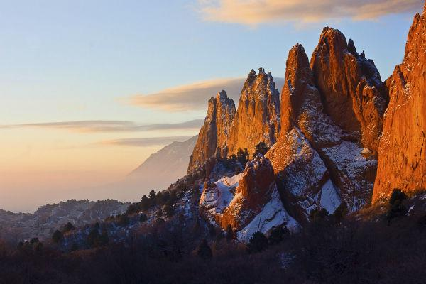 The Garden of the Gods is just outside of Colorado Springs and features some of the most spectacular scenery in the state.