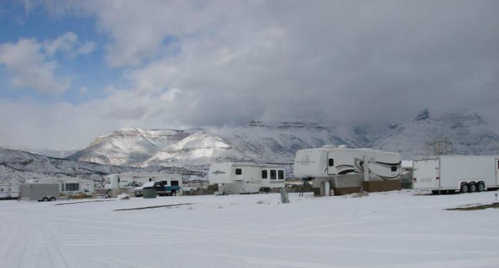 冬季房车旅行