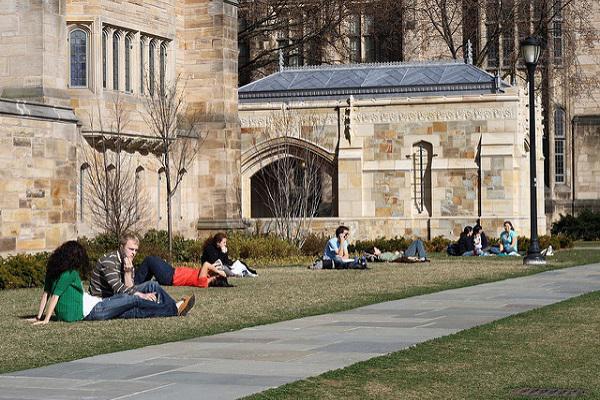 The beautiful campus of Yale University
