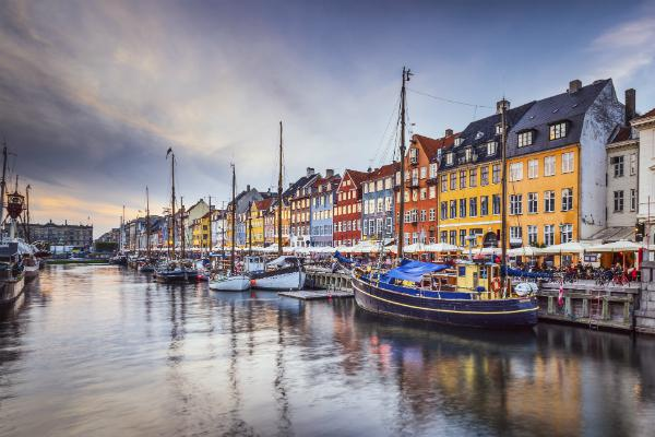 The colourful old buildings of Copenhagen are a beautiful sight