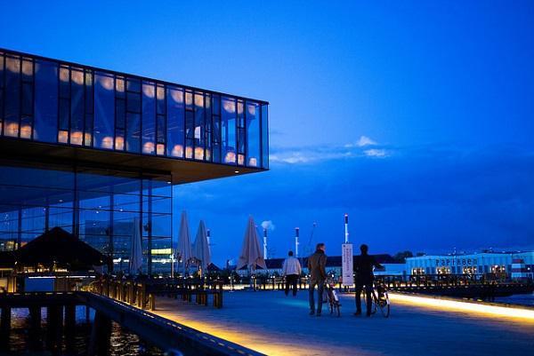 Bikes and modern architecture in Copenhagen