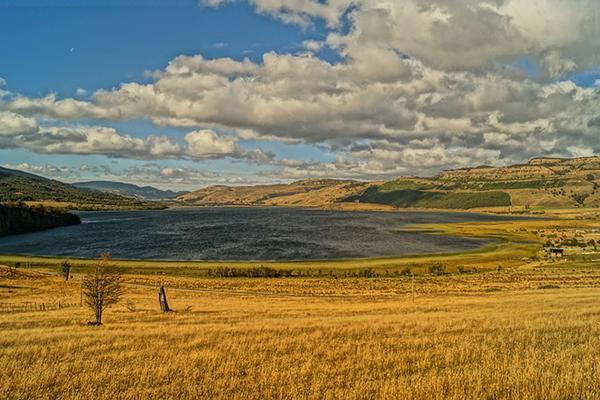 The beautiful landscape of Chilean Patagonia, near Coyhaique
