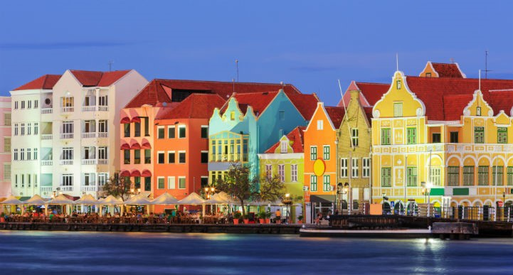 Both urban and natural landscapes are bursting with colour in Curacao.