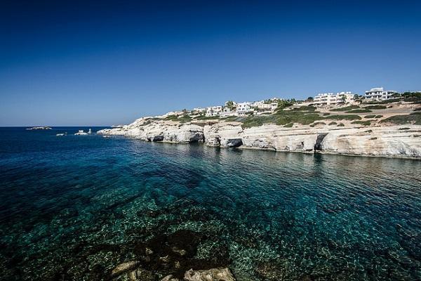 Stunning sea caves near Paphos