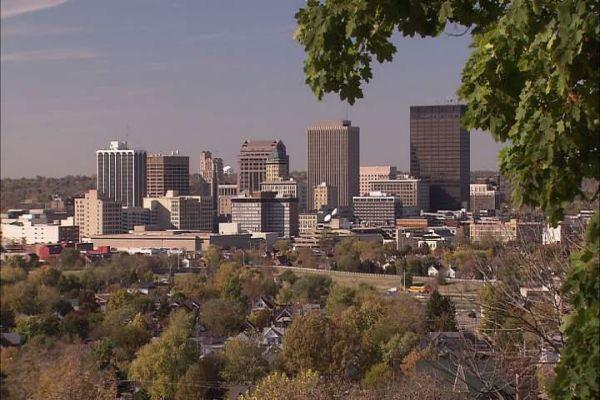Overlooking the skyline of Dayton.
