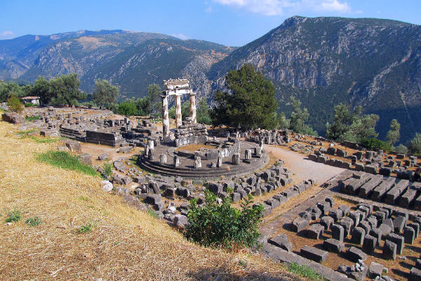 The ancient site where the oracle of Delphi raved and prophesied is an incredibly scenic destination.