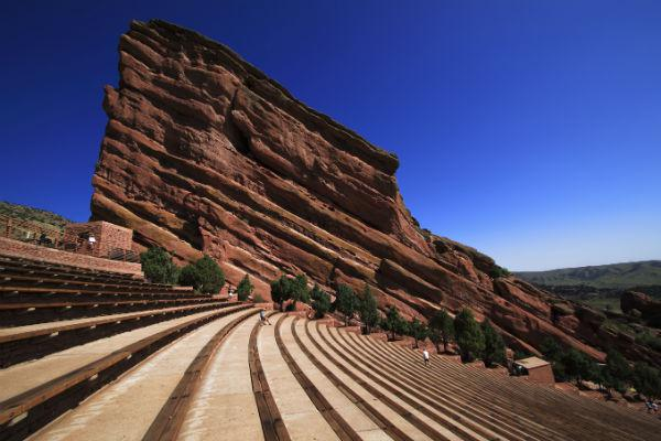 The magnificent Red Rocks amphitheatre near Denver will take your breath away - catch a concert here if you can.