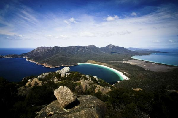 Wineglass Bay in Freycinet National Park has been named among the most beautiful beaches in the entire world - with a motorhome rental from Devonport you can be there in just a few hours.