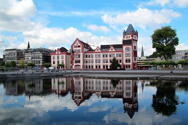 The Horder River and the Horder Castle in Dortmund, Germany