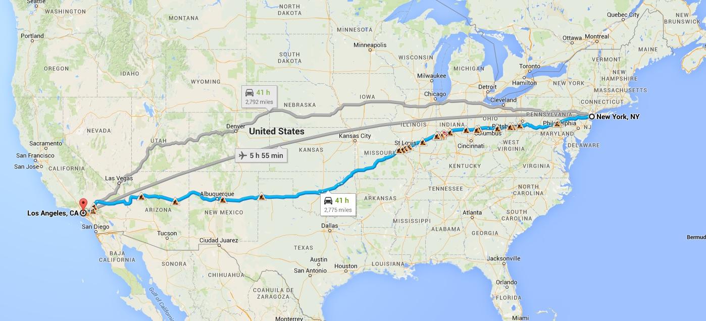 dirigir cruzando nos EUA