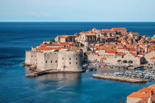 Dubrovnik is known for its distinctive Old Town and its massive stone walls.