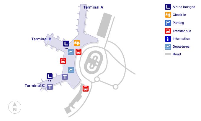 dusseldorf airport terminal map
