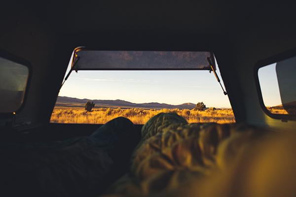 An early start in a camper in Castle Rocks, United States