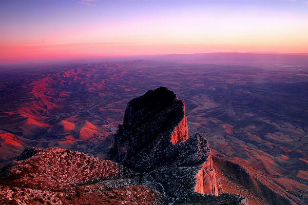 The Guadalupe Mountains National Park is a top tourist destination out of El Paso.