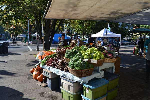 The farmers market in Eugene, Oregon.