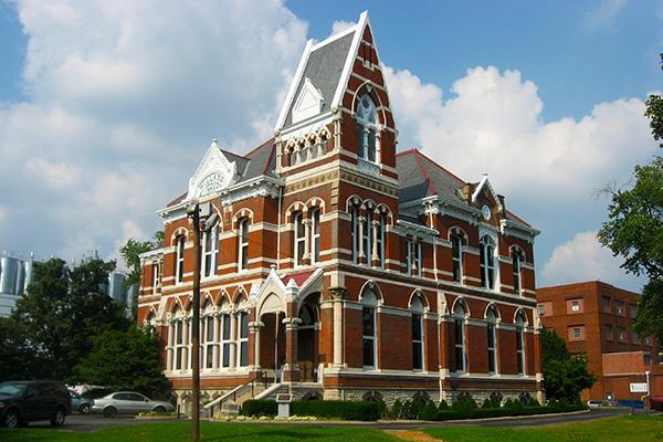 The Willard Library stands tall in Evansville, Indiana