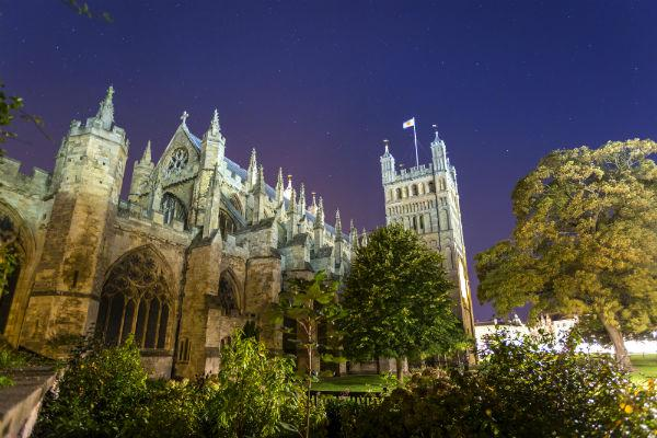 The present Exeter Cathedral has stood proud since 1400.