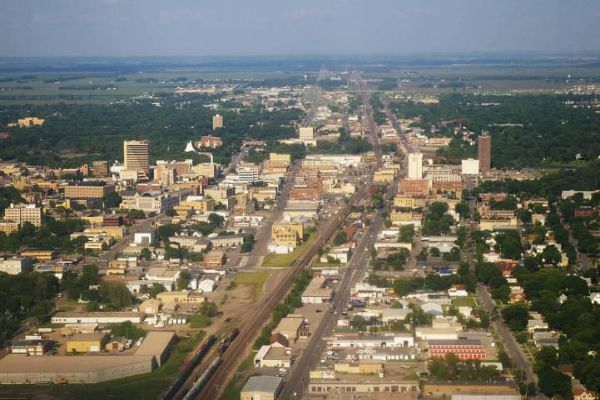 Downtown Fargo was the original central business district and core of the community.