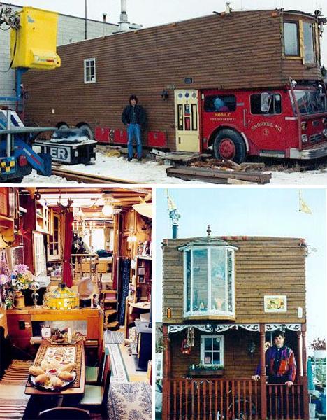 Firetruck House Bus