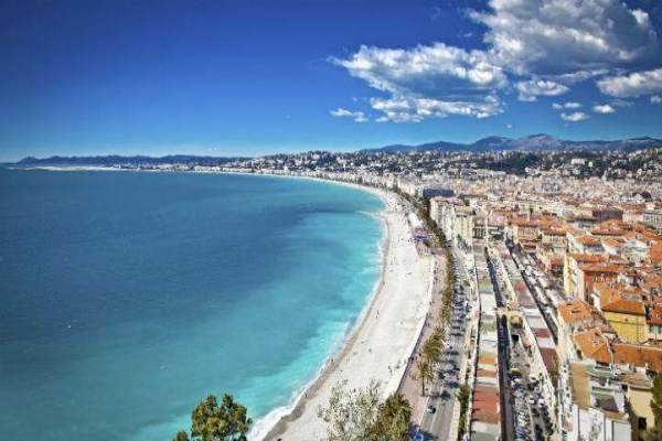 Nice coastline and beach, France