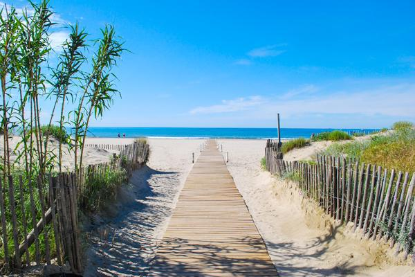 Sandy beaches on the Mediterranean await just outside the city of Montpellier