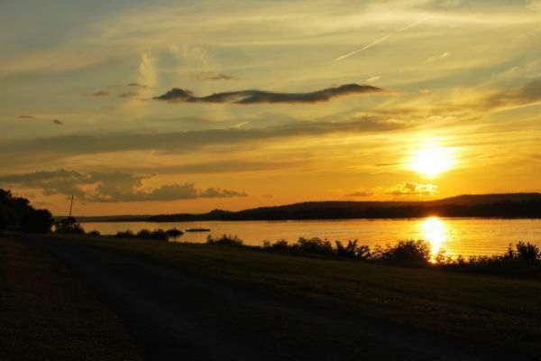 Capture one of many beautiful sunsets in Fredericton.