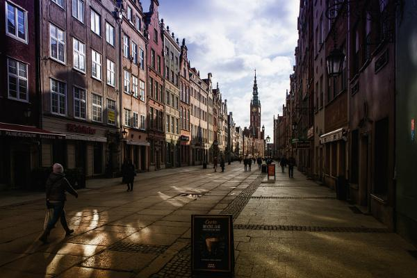 A pedestrian street in lovely Gdansk