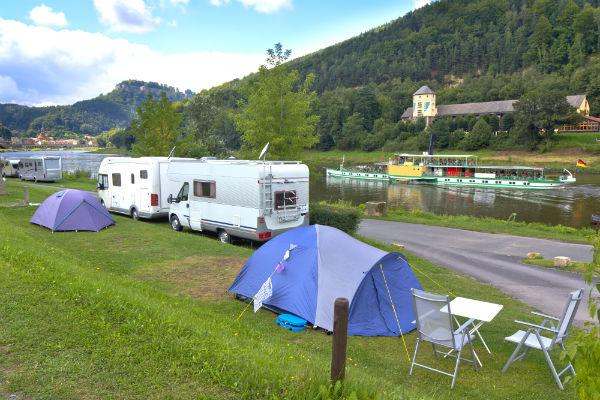 Camping on the banks of the River Elbe is just one way to enjoy your campervan trip in Germany.