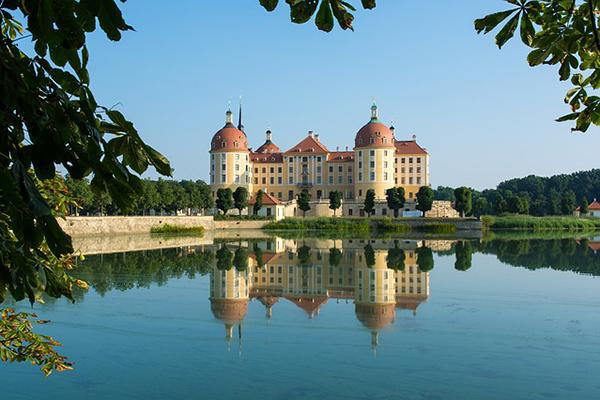 The Moritzburg Castle standing tall in Saxony, near Dresden, Germany