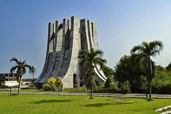 The Kwame Nkrumah monument stands proudly in Kwame Nkrumah Memorial Park Accra, Ghana