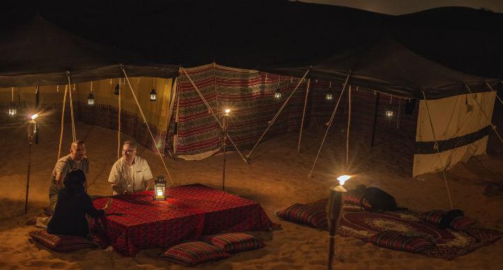 Bivouac in the desert