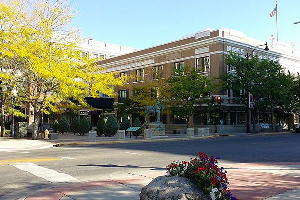 Downtown Great Falls, Montana looking sharp on a beautiful day