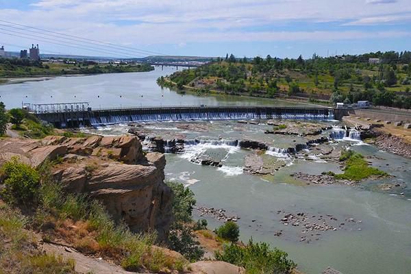 The Great Falls Portage, near Great Falls, Montana