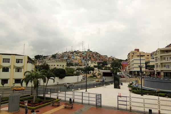 Guayaquil's colourful houses climb the hill