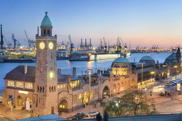 Hamburg is a thriving port city with excellent nightlife.