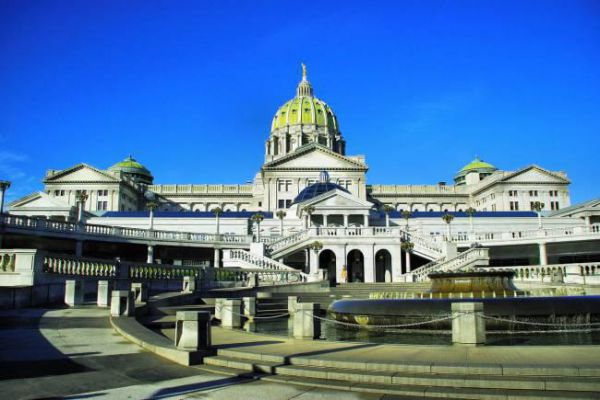 The Pennsylvania State Capitol is the seat of government for the U.S. state of Pennsylvania and is in downtown Harrisburg.