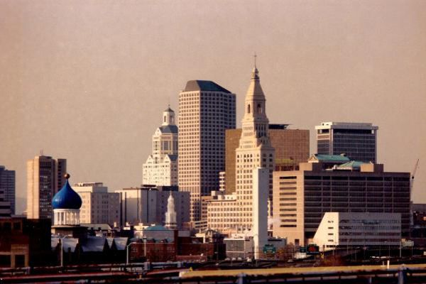 The city skyline of Hartford.
