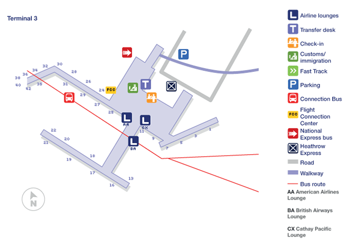 london heathrow map