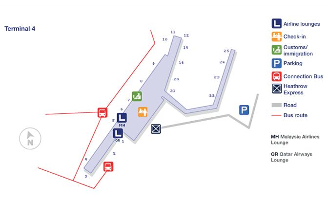 London Heathrow terminal map