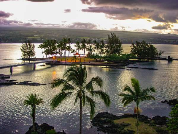 Tropical coconut island in Hilo.