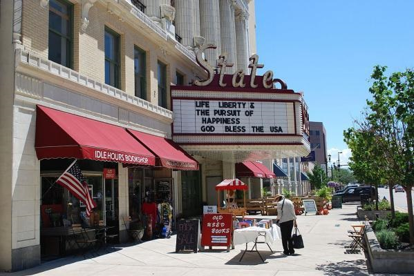 The State Theater in downtown South Bend.