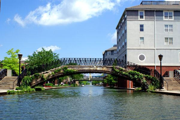 Taking a stroll along the Indianapolis canal is a great way to while away a lazy afternoon.