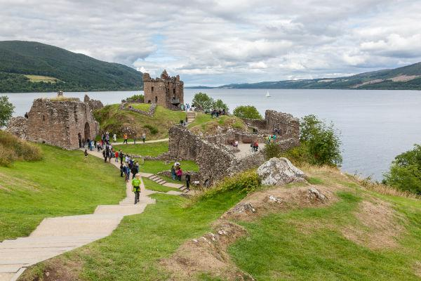 Urquhart Castle on the shores of Loch Ness is just one of the many incredible sights within easy reach from Inverness.