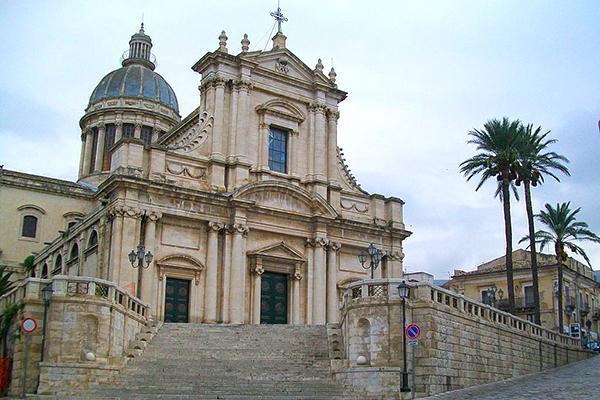 Facade of the Basilica M. SS. Annunziata of Comiso