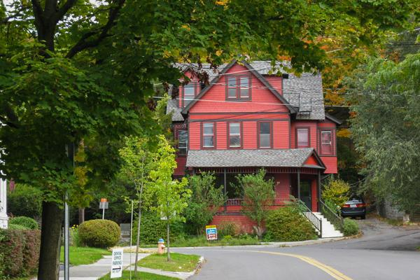 The quintessential American two-story home in upstate Ithaca, New York