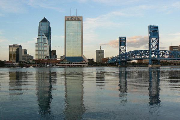 Bridge over the St John's River in Jacksonville