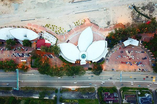 An aerial view of Danga Bay Central Club in Johor Bahru, Malaysia