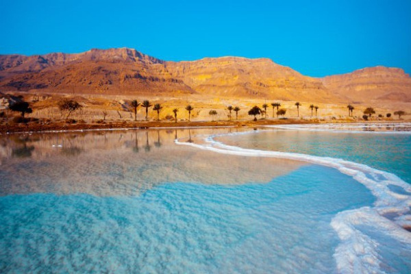 The salty Dead Sea in Jordan seems to belong on another planet entirely.