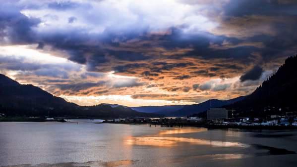 Stunning sunset in Juneau