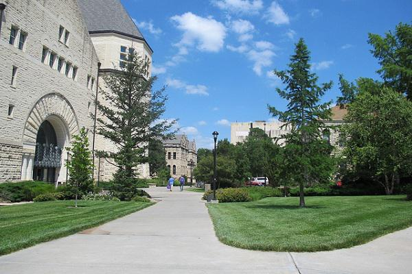 The Kansas State University campus is a highlight of Manhattan